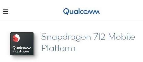 高通骁龙712移动平台正式发布,比骁龙710强10%