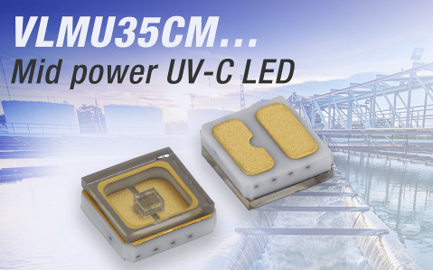 Vishay推陶瓷中功率短波紫外线(UVC)发光二极管