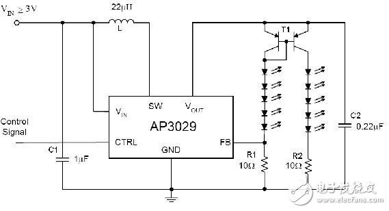 基于AP3029驱动串联WLED应用的设计方案