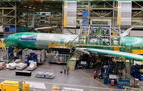 汉莎航空首架波音777-9飞机已在埃弗雷特总装线完成机体组装