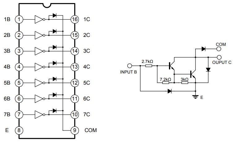ULN2003双极型线性集成电路的中文手册免费下载