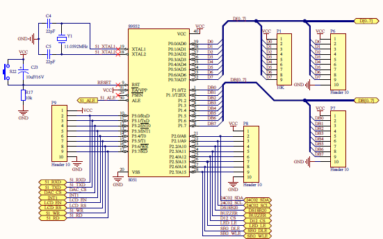TX-1C单片机开发板的电路原理图资料合集免费下载