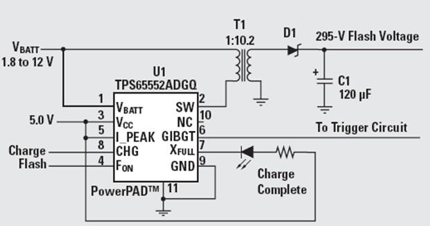 数码相机闪光灯的驱动控制电路设计