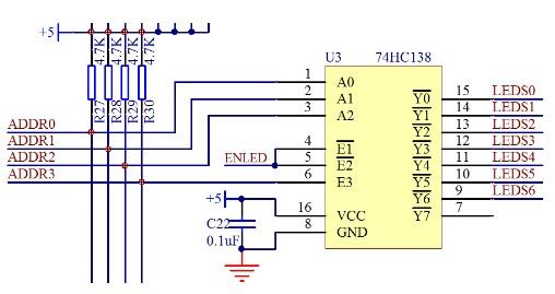 单片机74HC138三八译码器的原理及应用方法