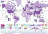 世界海底电缆地图2019版,描绘366个海底电缆系统和过千登陆站