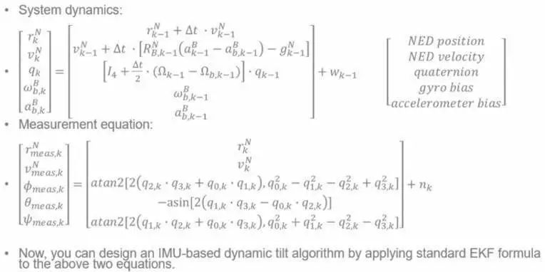 Dynamic attitude measurement of drones, robots and self-driving cars