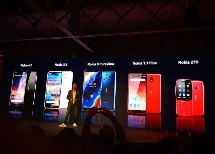 诺基亚正式发布了4款安卓智能手机和一款能上网的功能机