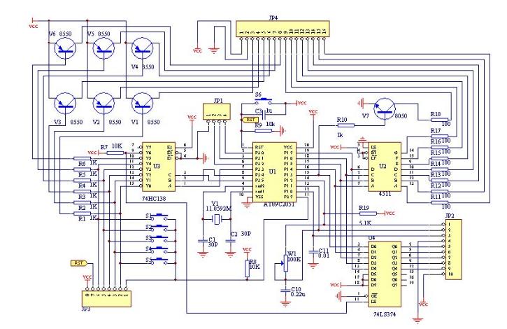 脉搏传感器采集脉搏信息输出电压信号,经信号放大电路对其进行放大.