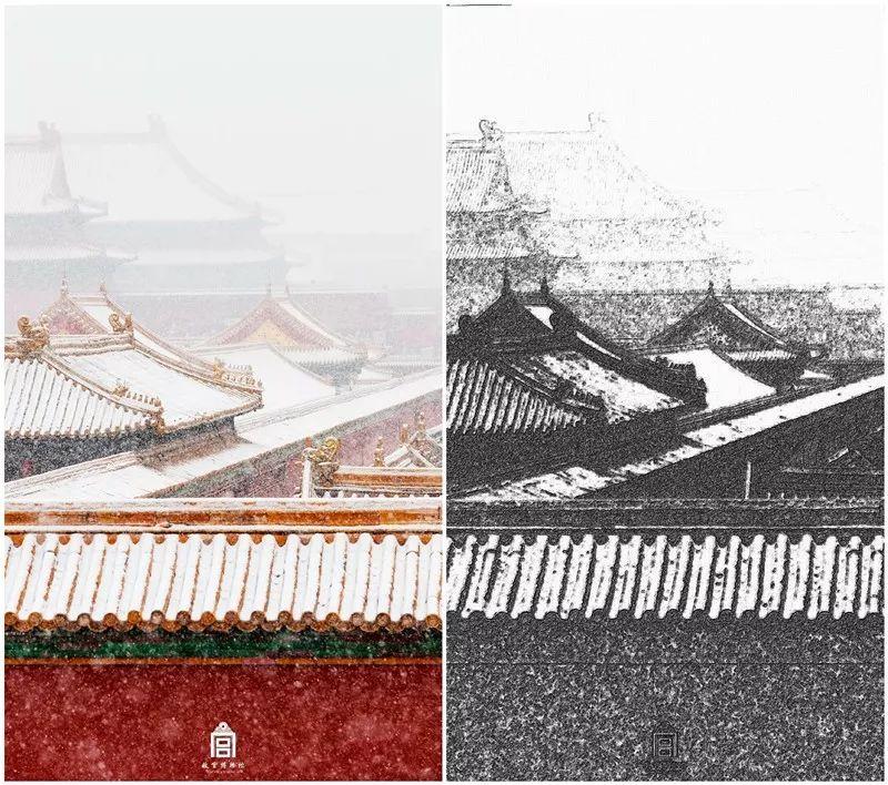 通过python将故宫的建筑物图片,转化为手绘图