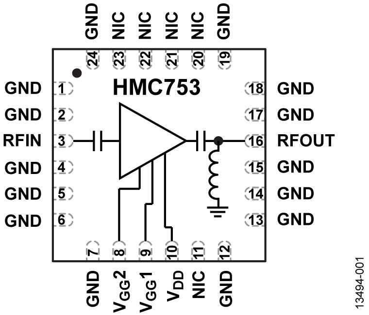 HMC753 低噪声放大器,采用SMT封装,1 - 11 GHz