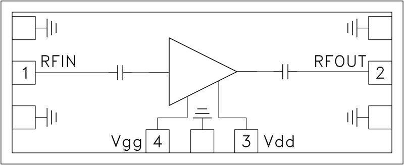HMC-ALH311 低噪声放大器芯片,22 - 26.5 GHz