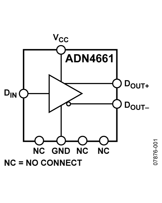 ADN4661 单通道、3 V、CMOS、LVD...