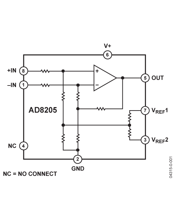 AD8205 42 V单电源系统差动放大器
