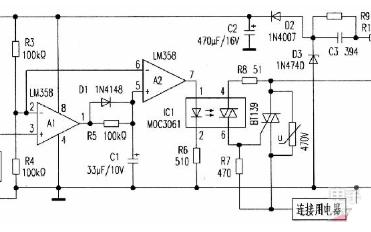 客房取电自动控制器电路图