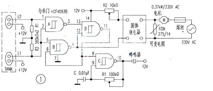 与非门控制水泵电路图