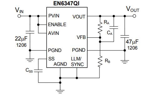 EN6347QI 4A PowerSoC集成电感降压型直流开关变换器的数据手册