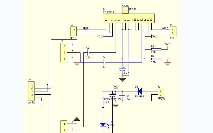 TDA7297芯片功放模块电路图免费下载