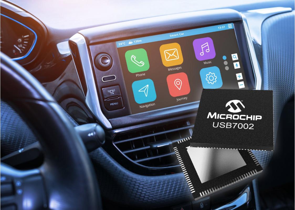 Microchip首款支持Type-C?的车载USB 3.1 SmartHub,速率可提升10倍