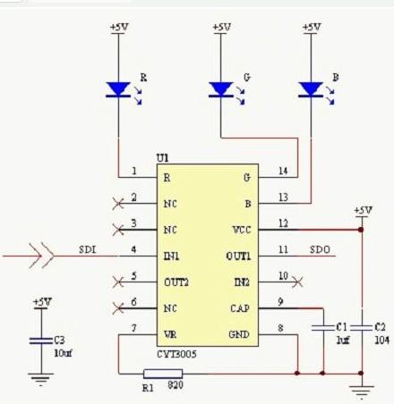 压阶传输技术驱动全彩LED灯的设计