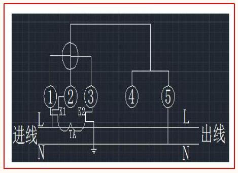 电度表接线图