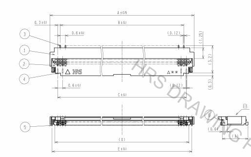 FH26-xxS-0.3SHW(05)柔性印刷电路板Zif连接器规格原理图免费下载