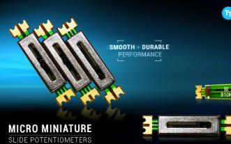 TT Electronics 推出的超小型滑动电位器拥有稳定、持久性能