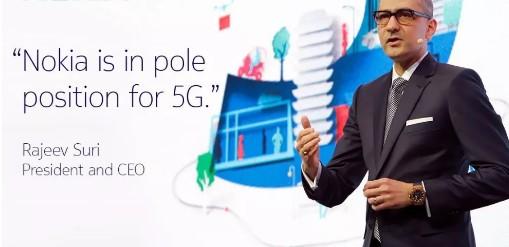 诺基亚随时准备并有能力为世界各地的客户提供5G服务