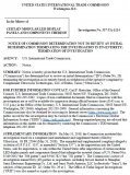 """美国公司针对中国LED显示屏企业发起的""""337专利调查案""""正式结束调查"""