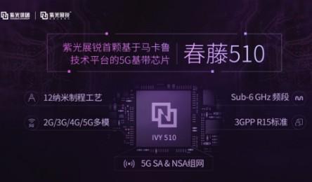 紫光展锐发布了5G通信技术平台以及首款5G基带芯片春藤510
