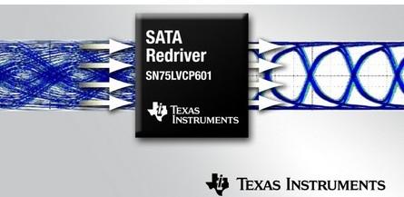德州仪器推出了一款6Gbps双通道单信道SATA转接驱动器