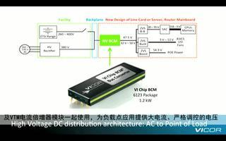 VI Chip高压母线转换模块的特点及应用介绍