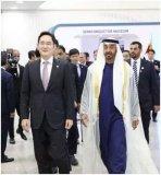 阿联酋王储参观三星半导体工厂
