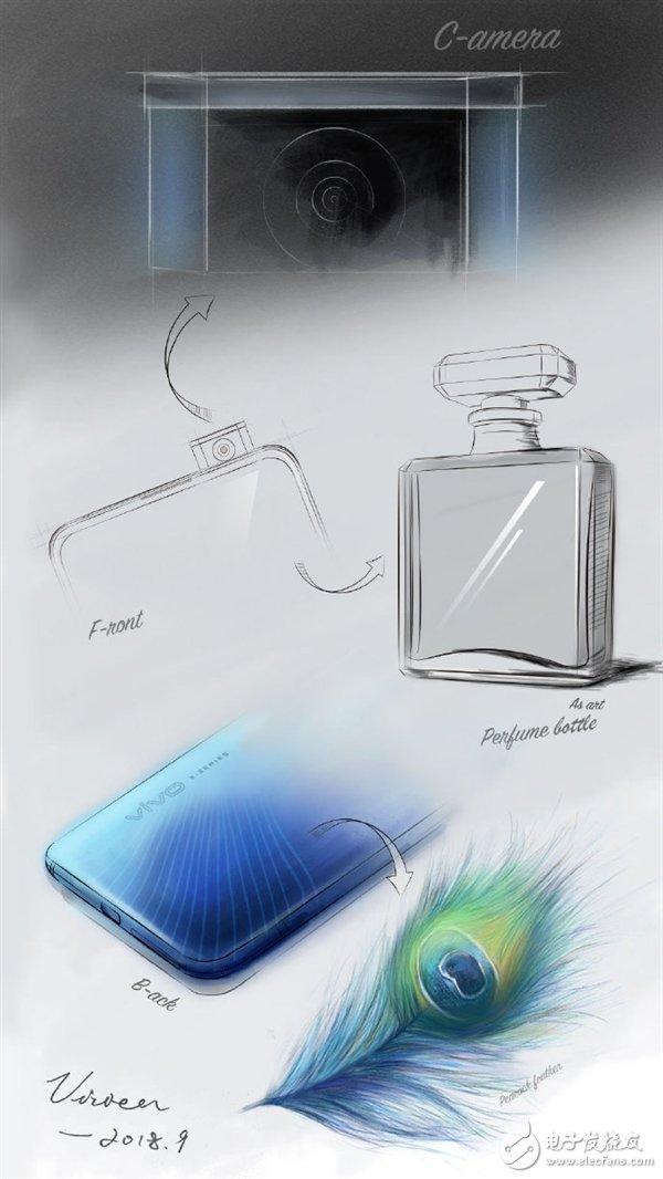 vivoX27设计手稿曝光 升降式前置摄像头的灵感竟源自一瓶香水