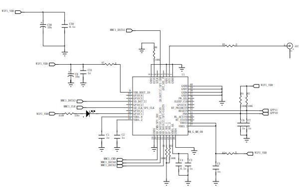 SDIO WIFI模塊的電路原理圖免費下載
