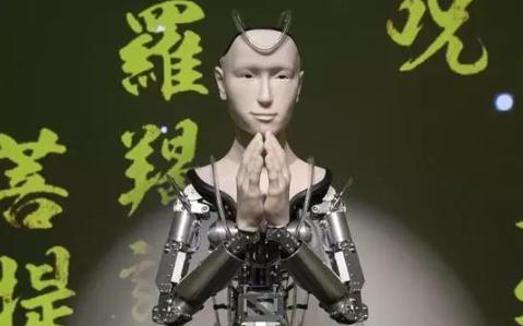 岛国机器人观音,内置佛语程序,声情并茂讲述《般若...