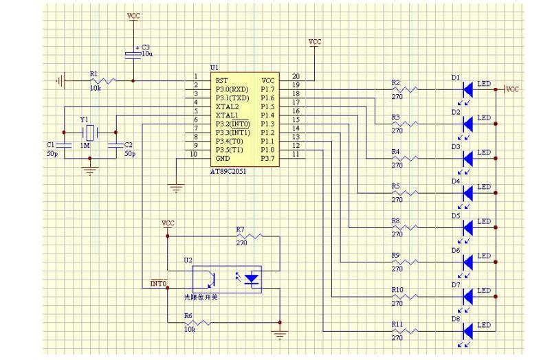 LED显示的电路图和程序及详细资料说明