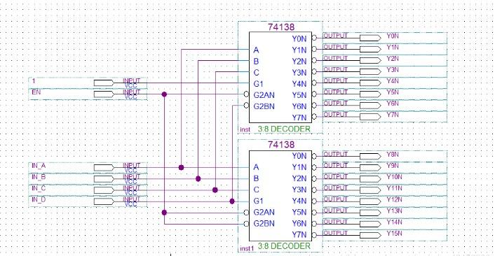 利用74LS138和74LS161的高速电路EDA设计实现