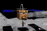 日本研制发射的隼鸟2号探测器在龙宫小行星表面成功...