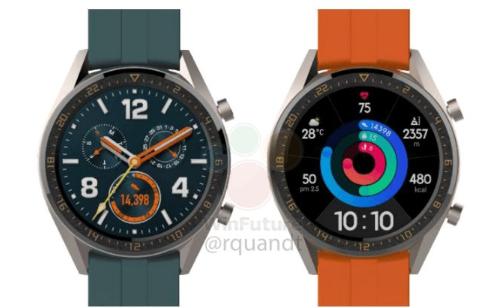 华为两款全新智能手表曝光:或与P30一同发布!