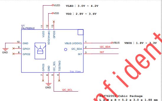 PAJ7620U2集成I2C接口手势识别传感器的数据手册免费下载