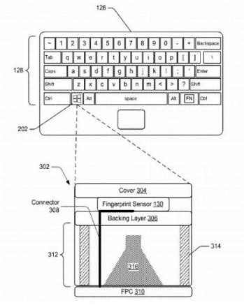微软新专利描述了一种将指纹识别器直接嵌入Windows键的方法