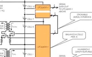 LTC3300主动平衡器优化串接式电池组寿命