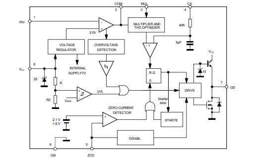 L6562校正控制器芯片的中文数据手册免费下载