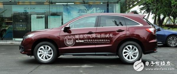 出租车上搭载PM2.5传感器空气质量监测仪