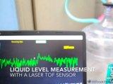你知道怎么样不接触液体而测量液位高度吗?