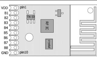 DL-BK24K6 2.4G无线遥控模块规格数据手册免费下载