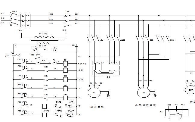 ld单梁门式起重机电气电路图资料免费下载