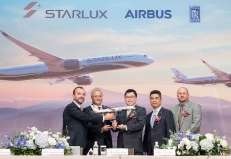 星宇航空已确认订购空中客车的12架A350-1000飞机和5架A350-900飞机