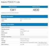 小米PocophoneF1Lite跑分曝光 搭载骁龙660或为千元级水准