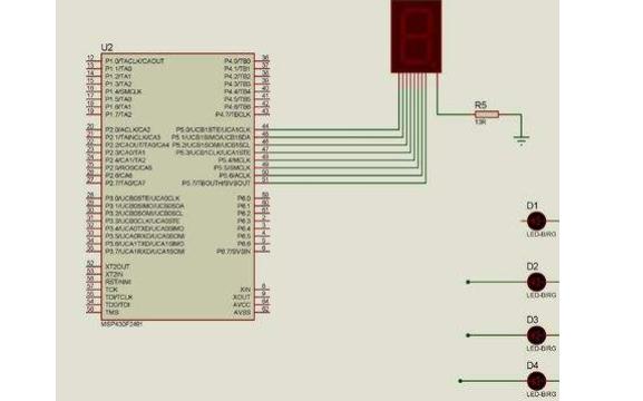 使用MSP430单片机进行数码管实验的教程资料免费下载